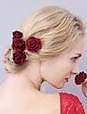 Femei Material Textil Diadema-Nuntă Ocazie specială Ac de Păr 1 Bucată