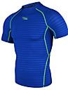 Homme Manches courtes Course / Running Tee-shirt Respirable Sechage rapide Confortable Printemps Ete Vetements de sportChasse Peche