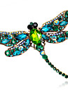 aliaj de moda / stras / broșe cristal dragonfly partid PIN-ul pentru femei / zi cu zi / nunta de lux bijuterii 1pc