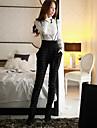 Dame Zvelt / Harem Pantaloni Chinos / salopetă Pantaloni Vintage / Drăguț / Șic Stradă Carouri / Bloc de CuloareCasul/Zilnic / Muncă /