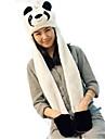 kigurumi Pyjamas Panda Chapeau Fete / Celebration Pyjamas Animale Halloween Blanc Mosaique Fausse Fourrure Polyester Chapeau Pour Unisexe