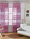 En panel Fönster Behandling Europeisk Living Room Polyester Material Sheer gardiner Shades Hem-dekoration For Fönster