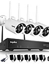 SANNCE® 4CH Wireless NVR Kit 720P Outdoor Night Vision 1.0mp Security Camera IP WIFI Surveillance CCTV System