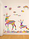 Djur / Jul Wall Stickers Väggstickers Flygplan Dekrativa Väggstickers,pvc Material Kan tas bort Hem-dekoration vägg~~POS=TRUNC