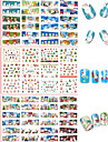 3 Sheets Nail Sticker Art Autocollants de transfert de l\'eau Maquillage cosmetique Nail Art Design