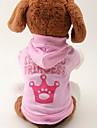 Pisici / Câini Hanorace cu Glugă Roz Îmbrăcăminte Câini Primăvara/toamnă Tiare & Coroane Modă