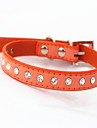Katter / Hundar Halsband Justerbara/Infällbar Mosaik / Bergkristall Röd / Svart / Blå / Rosa / Purpur / Orange / Ros Genuint läder
