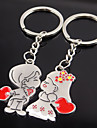 Stainless Steel Wedding Keychain Favors-2 Piece/Set Couples Keychains Fairytale Theme Non-personalised Valentine\'s Day Character Design