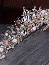 Femei Aliaj Imitație de Perle Diadema-Nuntă Ocazie specială Informal Tiare Cordeluțe Στεφάνια 1 Bucată
