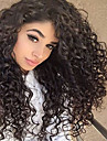 fullt spets människohår peruker för svarta kvinnor brasilianskt jungfruligt hår lockigt naturliga svart färg spets front peruker med baby