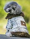 Câini Haine Τζιν μπουφάν Îmbrăcăminte Câini Cowboy Modă Keep Warm Blugi Negru Albastru