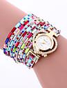 Women Fashion Dress Watches Crystal Luxury Leather Bracelet Wristwatches Women Quartz Wrist Watch Gift Watches Clock