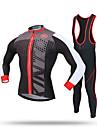 XINTOWN® Maillot et Cuissard Long a Bretelles de Cyclisme Homme Manches longues VeloGarder au chaud / Pare-vent / Permeabilite a