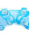 caz de protecție silicon dual-culoare pentru PS3 controler (albastru și alb)