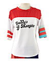 Costumes de Cosplay Superheros Cosplay de Film Rouge / Blanc Mosaique Tee-shirt Halloween / Noel / Nouvel an Feminin Coton
