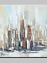 HANDMÅLAD Abstrakt / Abstrakta landskap olje~~POS=TRUNC,Moderna En panel Kanvas Hang målad oljemålning For Hem-dekoration