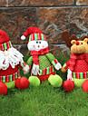 1buc aleatoare pliabil vânzare fierbinte decorare Crăciun Moș Crăciun om de zăpadă figurine de Crăciun