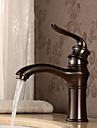 Antique Montage Position sur plancher with  Soupape ceramique Mitigeur un trou for  Bronze huile , Robinet de Cuisine Robinet lavabo