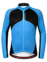 Wosawe® Unisexe Manches longues Velo Garder au chaud / Pare-vent / Doublure Polaire / Antiderapage Shirt / Maillot 100 % PolyesterAutomne