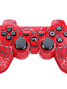 choc controleur sans fil a double six axes de bluetooth pour sony ps3 (multicolore)