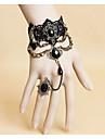 Accessoires de Lolita Gothique Doux Lolita Classique/Traditionnelle Punk Wa Marin Bracelet/Bracelet Colore Inspiration Vintage NoirLolita