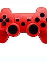 6 axel trådlösa bluetooth controller och laddare kabel för Sony PS3 konsolspel (blandade färger)
