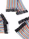 universel masculin en male / male a femelle / femelle pour cables dupont femmes fixes pour Arduino