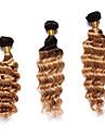 A Ombre Cheveux Indiens Ondulation profonde 12 mois 3 Pieces tissages de cheveux