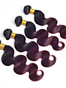 Precoloree Tissages Cheveux Cheveux Malaisiens Ondulation naturelle 12 mois 4 Pieces tissages de cheveux