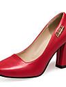 Homme-Habille Decontracte Soiree & Evenement-Rose Rouge Blanc Beige-Gros Talon-Autres-Chaussures a Talons-Similicuir