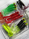 21 pcs Grub Fishing Lures Soft Bait Random Colors Soft Plastic Sea Fishing