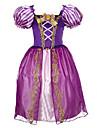 Costumes de Cosplay Costume de Soiree Bal Masque Princesse Conte de Fee Cosplay Cosplay de Film Bleu Violet Violet Claire Jaune Robe