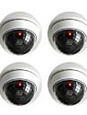 blanc sans fil faux factice dome CCTV camera de securite de kingneo rouge clignotant LED pour la maison ou le bureau commercial