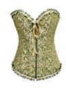 Grönt och guld-blom Satin Aristocrat Lolita Korsett