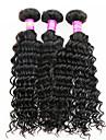Tissages de cheveux humains Cheveux Peruviens Ondulation profonde 3 Pieces tissages de cheveux