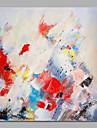 Peint a la main Abstrait / A fleurs/Botanique Peintures a l\'huile,Modern / Pastoral Un Panneau Toile Peinture a l\'huile Hang-peint For