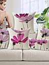 5 buc Bumbac/In Față de pernă,Floral Modern/Contemporan