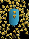 100st 4mm * 4mm gyllene hjärta metall nit nagel konst dekoration