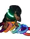Katter / Hundar Halsband LED Lampor / Justerbara/Infällbar / Elekronisk/Elektrisk / Laddningsbart Matt svartRöd / Grön / Blå / Gul /