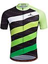 Miloto Maillot de Cyclisme Homme Manches courtes Velo Chemise Shirt Maillot Hauts/TopsSechage rapide Permeabilite a l\'humidite Zip
