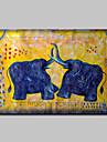 Peint a la main Animal POP Peintures a l\'huile,Moderne Un Panneau Toile Peinture a l\'huile Hang-peint For Decoration d\'interieur