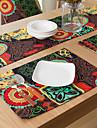 Andra Tryck / Mönstrad / Blom Bordstabletter , Bomullsblandning Material Tabell Dceoration / Hotel Dining Table