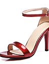 Dame Sandale Primăvară Vară Toamnă PU Casual Party & Seară Toc Stiletto Altele Negru Roz Roșu