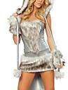 Costumes de Cosplay Costume de Soiree Animal Fete / Celebration Deguisement d\'Halloween Gris Mosaique Haut Jupe Gants Jambieres Chapeau