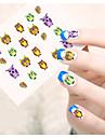 1 Autocollant d\'art de clou Autocollants de transfert de l\'eau Autocollant dentelle Bijoux pour ongles Bande dessinee AdorableMaquillage