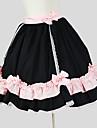 Jupe Doux Rococo Cosplay Vetrements Lolita Couleur Pleine Sans Manches Genou Jupe Pour Coton
