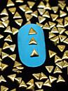 100pcs * 3mm 3mm decoration d\'art rivet ongles triangle d\'or metallique