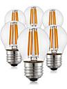 4W E26/E27 Bec Filet LED G45 4 COB 400 lm Alb Cald AC 220-240 V 6 bc