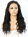180% densitet 360 spets frontal peruk med naturlig hårfäste hög hästsvans jungfru hår 360 vågigt peruk