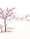 Botanic Modă Florale Perete Postituri Autocolante perete plane Autocolante de Perete Decorative,Vinil MaterialLavabil Detașabil